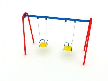 Гойдалка підвісна подвійна на ланцюгах