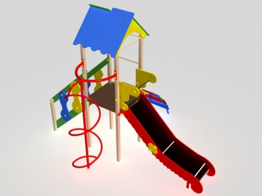 Дитячий ігровий комплекс з однією вежею 2