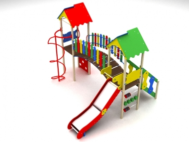 Дитячий ігровий комплекс на дві вежі 1
