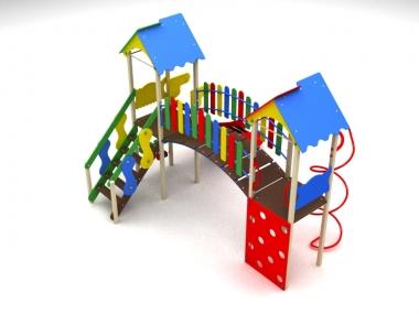 Детский игровой комплекс на две башни 2