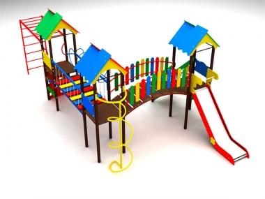 Детский игровой комплекс на три башни 1