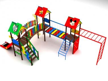 Детский игровой комплекс на три башни 2