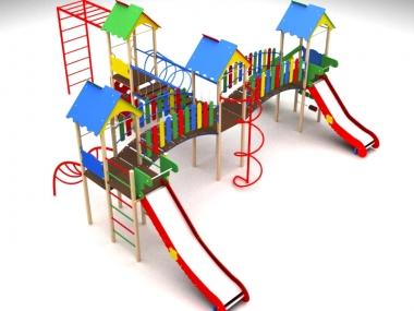 Дитячий ігровий комплекс на чотири вежі